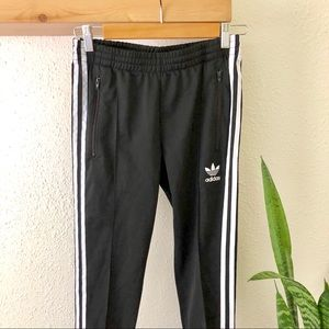 Adidas joggers black with white stripes